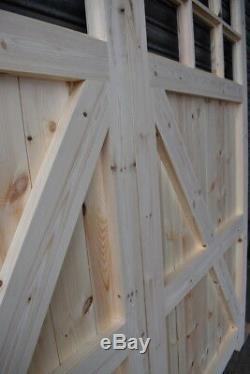 Wooden Garage Doors Heavy Duty Frame, Ledge & Braced 12 Pane