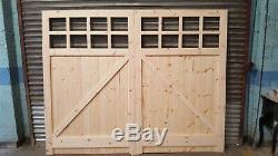 Wooden Garage Doors Heavy Duty Frame, Ledge & Braced 2 Pane Made to size