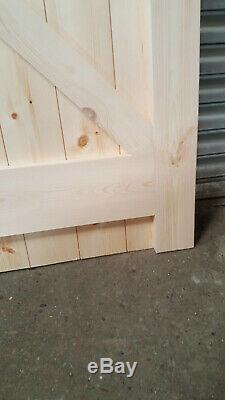 Wooden Garage Doors Heavy Duty Frame, Ledge & Braced 4 Pane Made to size