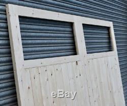 Wooden Garage Doors Heavy Duty Frame, Ledge & Braced Single Pane