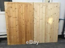 Wooden Garage Doors, Heavy Duty Frame ledge and braced