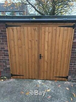 Wooden Garage Doors, Heavy Duty Frame ledge and braced 2120mmH X 2330mmW X2