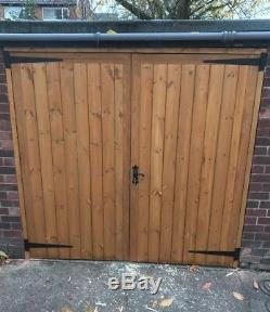 Wooden Garage Doors, Heavy Duty Frame ledge and braced, Made To Measure Service