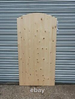 Wooden Garden Side Gate ARCH California Redwood Heavy Duty Luxury Ledge & Braced