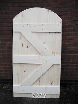 Wooden Garden Side Gate Ledge & Braced Heavy Duty 5ft 1500mm plus curved top