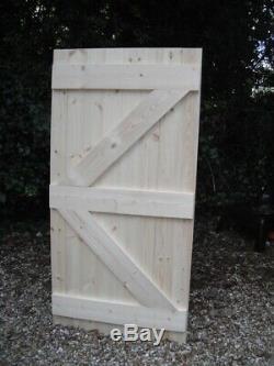 Wooden Garden Side Gate Ledge & Braced Heavy Duty 6ft 1800mm Flat Top
