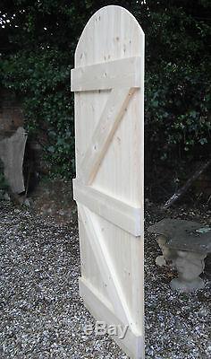 Wooden Garden Side Gate Ledge & Braced Heavy Duty 6ft 1800mm Plus Curved Top