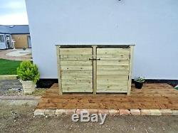 Wooden Log Store Outdoor Garden Shed W-1870m x H-1260mm x D-810mm Heavy Duty