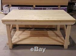 Wooden Workbench Super Heavy Duty 3ft to 6ft Length 4ft Depth Indoor Outdoor