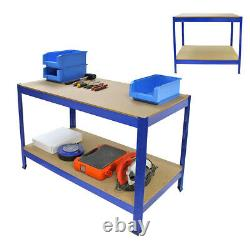 Work Bench Shelf Shed Rack Heavy Duty Industrial Metal Warehouse Garage Storage