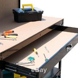 Workbench Metal Shelving Unit Heavy Duty Workshop Storage Tool Box Work Bench