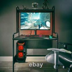 X Rocker Icarus Gaming Desk Station with Adjustable Shelves PC Tray Ergonomic