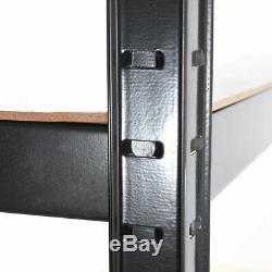 (1500 X 700 X 300) MM Heavy Duty 5 Niveau De Stockage Racking Noir Étagères Boltles
