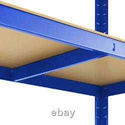 (1500 X 700 X 300) MM Rangement De Rangement Lourd 5 Niveaux De Rayonnage Bleu Sans Boulon