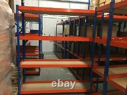 16 X Industrial Grade Racking Heavy Duty Étagères 4 Niveaux