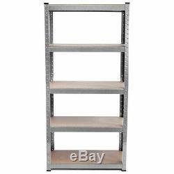 180cm Heavy Duty Métal Garage Rayonnages Racking Unité Support De Rangement Emboîtable Shelf
