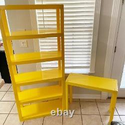 1970s MID Century Moderne Rayonnage Modulaire Yellow Étagère En Plastique Dorm Meubles