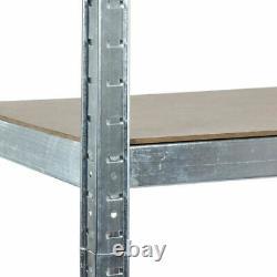 1.8m Rack D'étagère Galvanisé De Service Lourd En Métal 5 Tier Étagère De Rangement De Garage