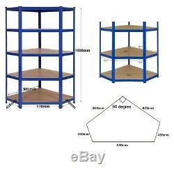 1 Coin Garage Rayonnage / Rayonnage Et 4 X 900mm Bays Métal Heavy Duty Rayonnage