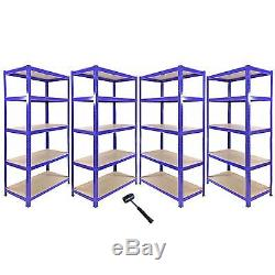 1 X Étagère De Garage Pour Rayonnage En Angle, 4 Tablettes En Mdf Extra-robustes En Métal De 90 CM