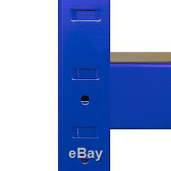 1 X Rayonnages De Garage Pour Rayonnages D'angle, 2 Tablettes En Mdf Extra-robustes En Métal De 90 CM