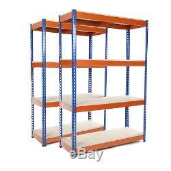 2 X 4 Niveau D'étagère En Acier Heavy Duty Garage Stockage / Rayonnage 400kg Udl