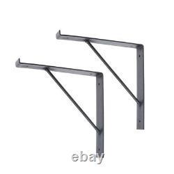 2pc Heavy Duty Industrial Rustic Shelf Brackets Échafaudage Board Steel Metal 225mm