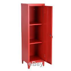 3 Bureau Tier Locker En Métal Cabinet 137 CM En Hauteur Entreposage Industriel Armoire