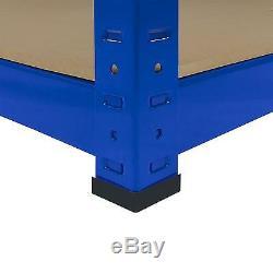 3 Clayettes Garage Rayonnage 5 Tier Racking Emboîtable Heavy Duty Étagère De Rangement 160cm