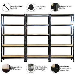 3 Étagères De Garage Racking Heavy Duty Steel Boltless Warehouse Unit 5 Tier 75cm