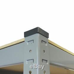 3 Rayonnages De Garage Très Larges Soutenant Des Unités D'entrepôt Boltless En Acier Résistant