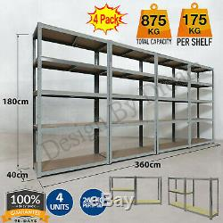 4 Garage 5 Niveau Étagère De Rangement En Métal Étagères De Racking Supplémentaires Shed Entrepôt