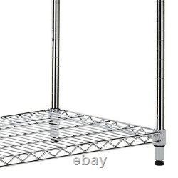 4 Niveaux Chrome Wire Shelving Kits Heavy Duty Storage Hauteur Est De 6ft