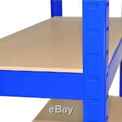 4 X Étagères Garage Rayonnage Rayonnage Emboîtable Robuste Étagère De Rangement De 75 CM