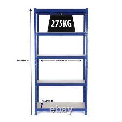4 X Unités De Rayonnage En Acier Lourd 5 Garage Métallique De Rang/supports De Stockage 275kg Udl