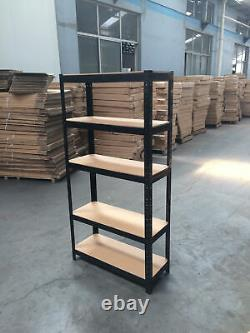 4x Garage Shed 5 Tier Racking Storage Étagères Boltless Heavy Duty Shelves