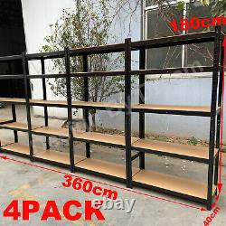 4x Garage Shed 5 Tier Racking Storage Shelving Units Boltless No Bolts 180 Grande