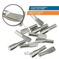50 Pack 3mm Étagère En Forme De Cuillère Pin Cabinet Support Pegs Holder Nickel Métal