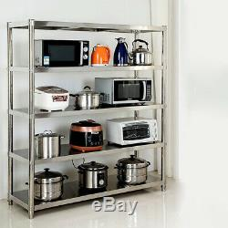 5 Niveau Grand Plateau Lourd Cuisine En Acier Inoxydable Duty Commercial Support De Rangement