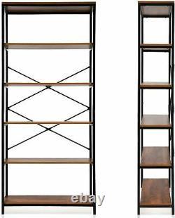 5 Niveaux Moderne Étagères De Rangement Étagère D'affichage Bibliothèque Unité Stand Organisateur