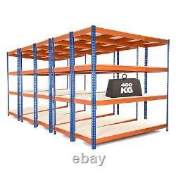 5 X 4 Tier Steel Shelving Heavy Duty Garage Storage Racking 400kg Udl