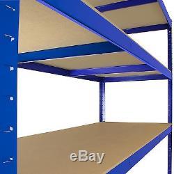 5 X Étagères D'entrepôt Robustes Soutirage Rayonnages De Rangement En Baie