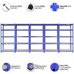 5 X Étagères De Garage Rayonnage Rayonnage Emboîtable Lourds De Stockage Connecteurs Libres