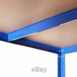 5tier (180cm X 120cm X 60 Cm) Heavy Duty Métal Bleu Étagère Rack Ukdc