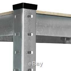 5x Rayonnage D'unité Industrielle Etagère De Rangement De Garage Pour 875kg 5 Niveaux Ru