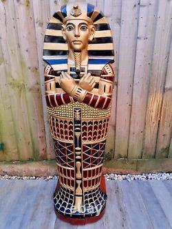 A Stunning Egyptian Sarcophagus Statues Étagères Pour Les Livres De Stockage, Cd, Ga