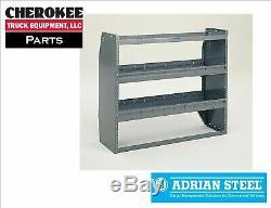 Adrian Steel Hd-52fp, 52 Heavy Duty Hd / Kd Unité Tablette Réglable Pleine Grandeur Van