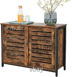 Armoire À Armoires Vintage Industrial Sideboard Rustic Kitchen Pantry