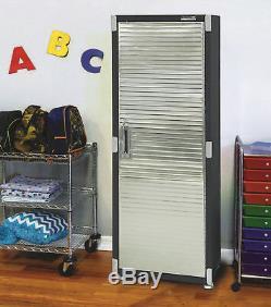 Armoire De Rangement Robuste Étagères Boîte De Coffre En Acier À Outils De Garage Pour Organisateur