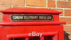 Armoire En Bois De Livre De Stockage De Coffret D'étalage De Stockage De CD De DVD De Téléphone De Londres Rouge